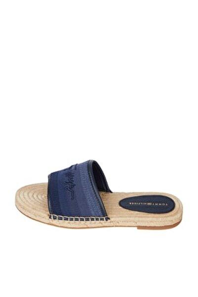 Kadın Mavi Sandalet Tommy Gradient Mule Espadrille FW0FW05625