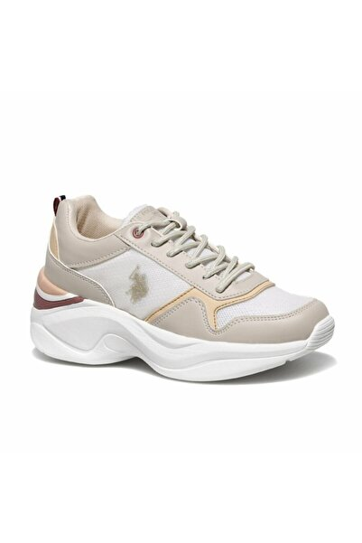 U.S. Polo Assn. Mercy Bej Kadın Fashion Sneaker