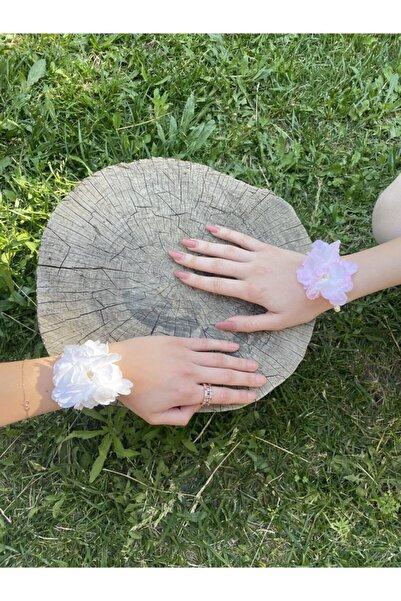Pearly Handmade Ikili Set Nedime Bilekliği Çiçek Ve Inci