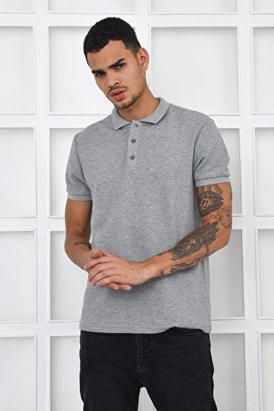 Fabrika Rahat Polo Yaka T-shirt - Gri