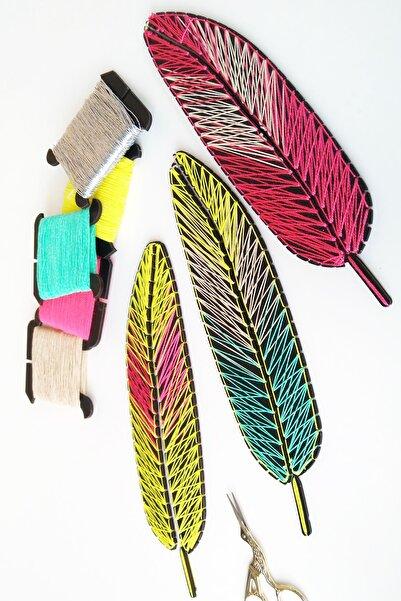 ROPENROLL 3 Adet Tüy - 5 Renk Ip - Açıklamalı Çivisiz Filografi Görsel Sanatlar Seti