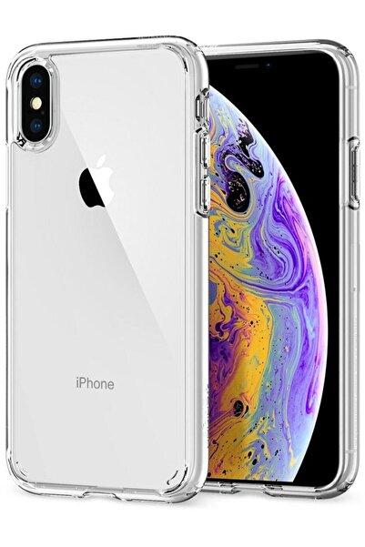 Telefon Aksesuarları Iphone Xs Max Kılıf Şeffaf Hibrit Silikon Esnek Tam Koruma