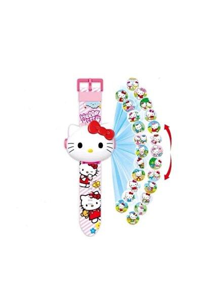 Hello Kitty Projeksiyon Saat ( 24 Farklı Karakteri Duvara Yansıtır )