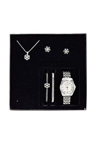 Accessorize Watches Bayan Kol Saati Takı Seti Kolye Bileklik Küpe Seti