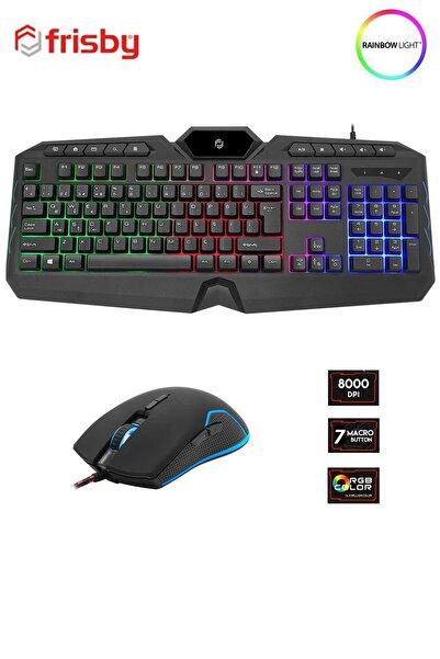 FRISBY Fk-4865qu 8000 Dpı Mouse Su Geçirmez Anti Ghosting Klavye Pro Gaming Oyuncu Klavye Mouse Seti