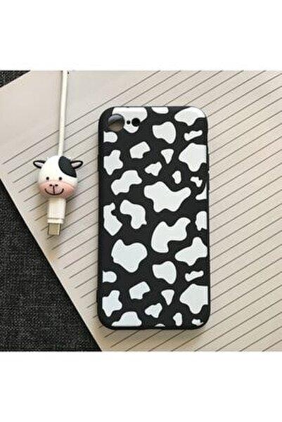Iphone 6/6s Inek Desenli Kılıf+kablo Koruyucu