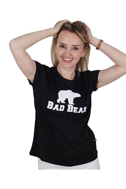 Bad Bear Kadın Siyah Tişört Logo Tee
