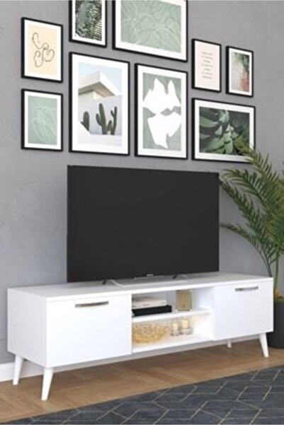 Haus Modüler Beyaz Tv Sehpası