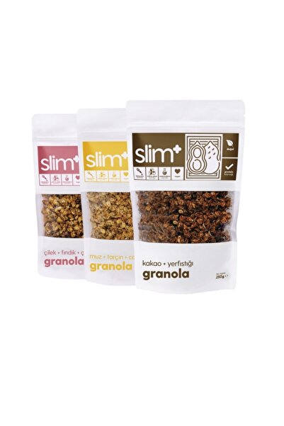 SlimPlus 3'lü Paket Granola Mix Paket 250 gr