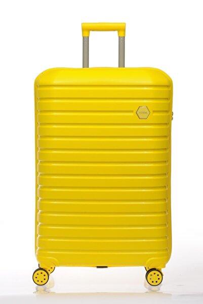 Fossil Kırılmaz Pp Sarı Unısex Valiz&bavul