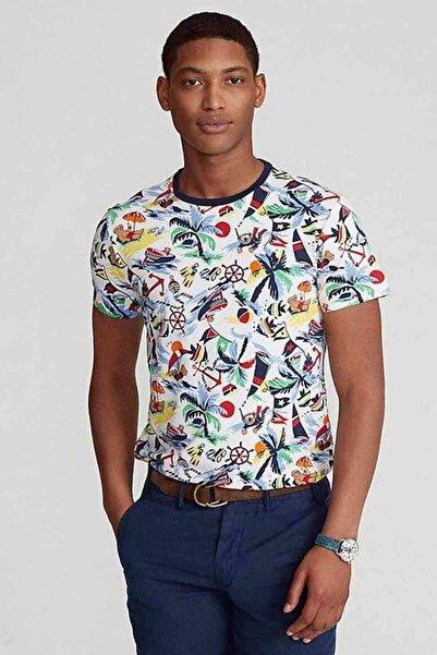 Polo Ralph Lauren Tropikal Desenli Custom Slim Fit T-shirt