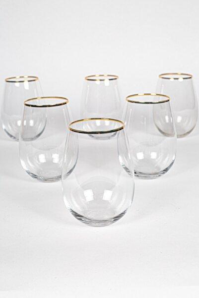 Rakle Astoria Gold 6'lı Meşrubat Bardağı Seti 500 Cc