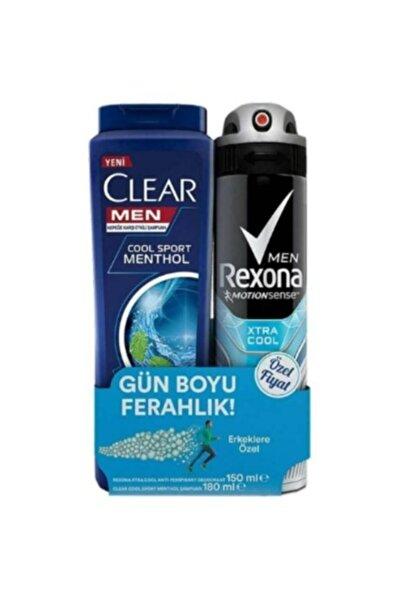 Rexona Men Xtra Deo Sprey 150 ml + Clear Coolsport Menthol Şampuan 180 ml 12X330ML