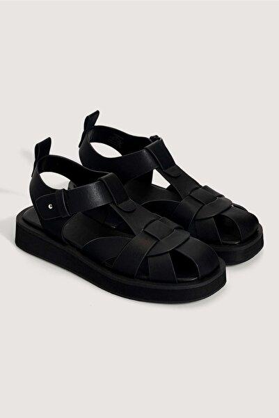Oysho Siyah Sandaleti