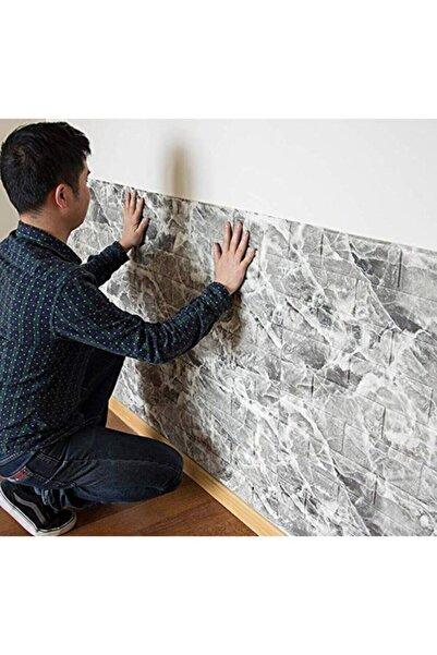 Renkli Duvarlar Nw13 Kendinden Yapışkanlı Çift Renk Alaca Gri Tuğla Esnek Tuğla Sünger Duvar Paneli 70x77 Cm 4 Adet