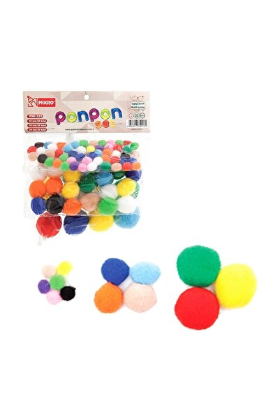 Mikro Ponpon Set 10-20-30 mm