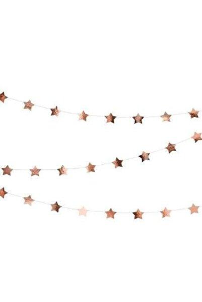 parti sürprizi Yıldız Sarkıt Süs Rose Gold
