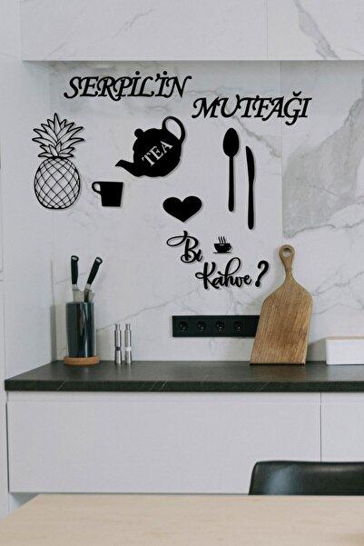 HTS TASARIM Isimli Mutfağım Ananas+bi Kahve? Dekoratif Mutfak Dekoru