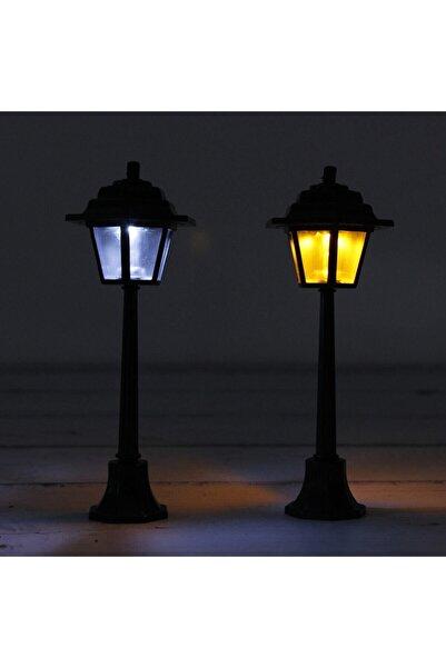 Trivia Teraryum Obje Sokak Lambası Siyah 2 Renk Işıklı