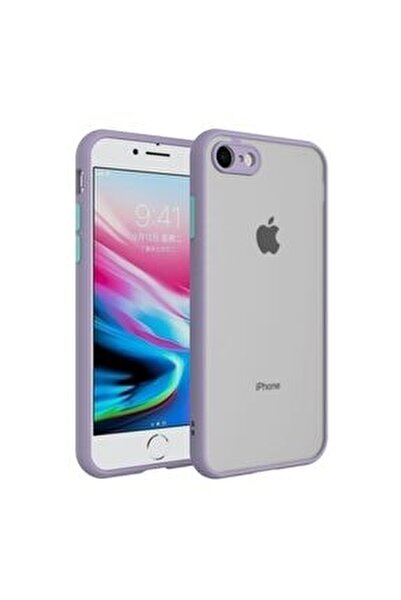 Iphone 6 / 6s Kenarları Renkli Kamera Korumalı Transparan Kılıf