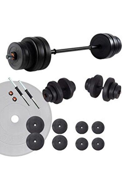 Spor Halter Seti Ve Dambıl Seti Ağırlık Fitness Seti 45 Kg