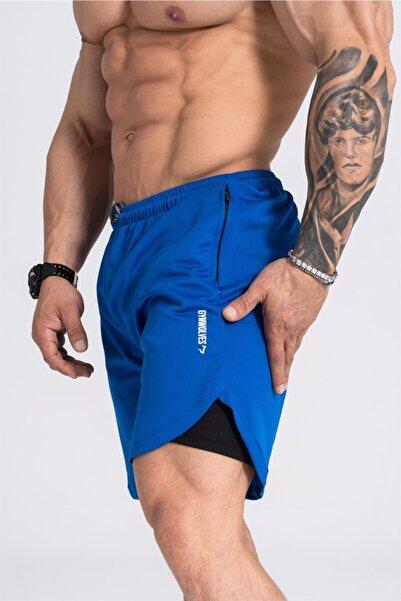 Gymwolves Erkek Spor Şort Çift Katmanlı | Comfortable Serisi |