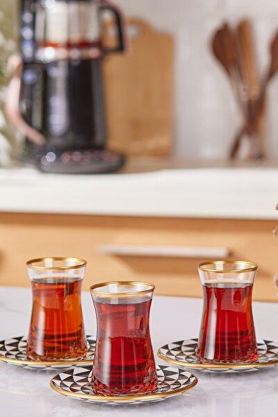 Karaca Black Gold  Çay Seti 6lı