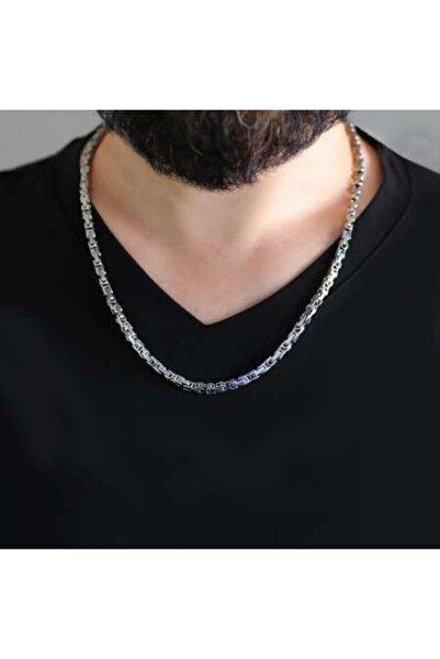 TAKICIBUTIQ Unisex Silver Renk Kalınlık 5 Mm 317l Çelik Kral Zincir