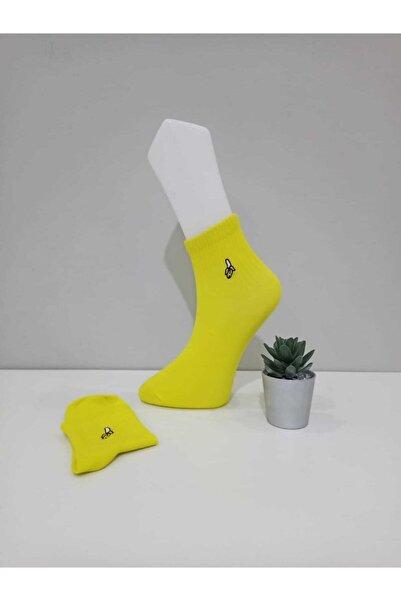 CRTTARZ Muz Nakışlı Çorap