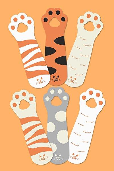 Özer Store 6'lı Set Kedi Patileri Temalı Sevimli Kitap Ayraçları