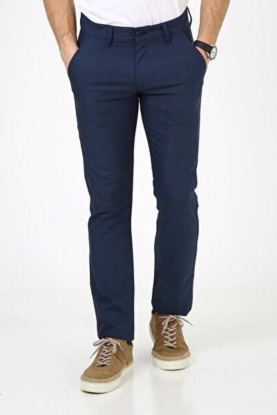 muzzo jeans Erkek Mavi Çizgili Kumaş Pantolon