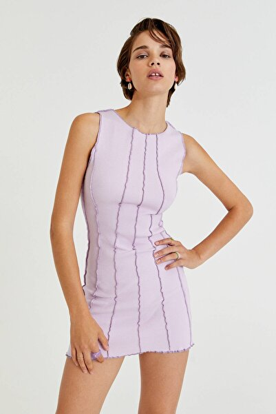 Pull & Bear Görünür Dikişli Mini Elbise