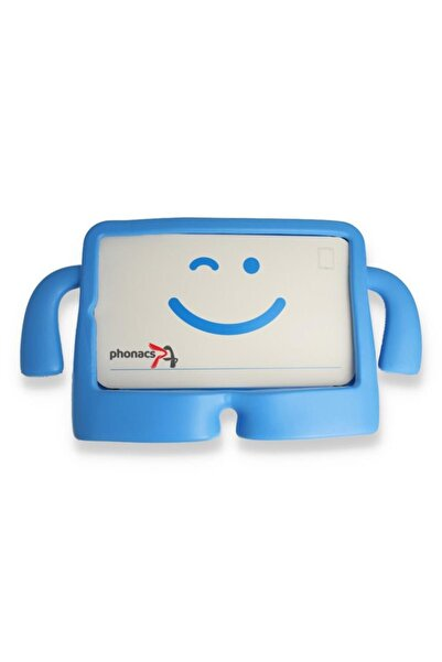 PHONACS Samsung Galaxy Tab S6 Lite Sm-p610 Çocuk Için Stantlı Silikon Tablet Kılıfı - Mavi
