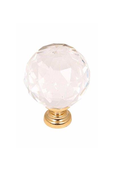 fds Kristal Düğme Kulp Modelleri Altın Dolap Çekmece Mobilya Mutfak Kulbu 30mm