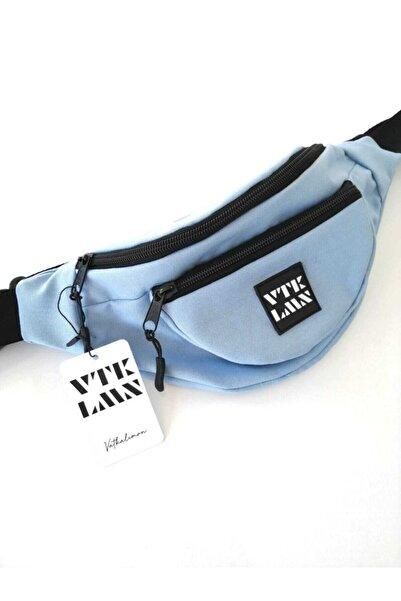 Vatkalimon Unisex Mavi Renkli Omuz Ve Bel Çantası