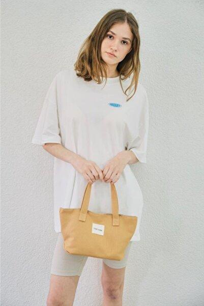 Shule Bags Kadın Organik Kanvas Kumaş El Çantası Selina Taba