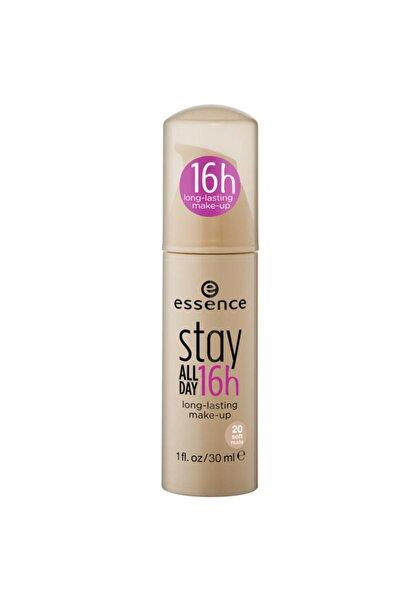 Essence Stay All Day 16h Foundation 20 Soft Nude 30 ml 4250338410828 16 Saat Dayanıklı 20 Numara Pompalı