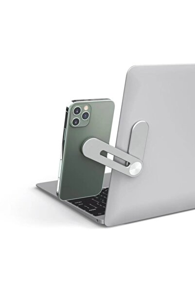 MyBlack Laptop Monitör Ekran Yanı Telefon Tutucu Demir Stand Mıknatıslı