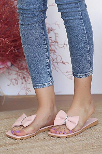Pembe Potin Kadın Pembe Sandalet