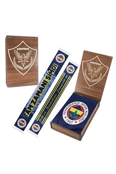 Fenerbahçe Orijinal Şal & Atlı Ahşap Kutulu