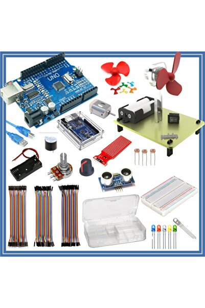 Arduino Başlangıç Seti Uno R3 ( Ch340 ) Okul 34 Parça 134 Adet
