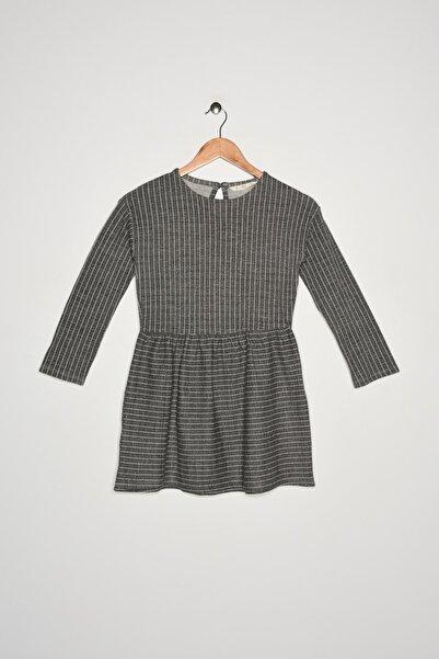 MANGO Kids Kız Çocuk Orta Kırçıllı Gri Elbise 53963736