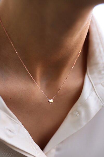 SUNSHINE 925 Ayar Trend Minimal Kalpli Gümüş Kolye SK0913