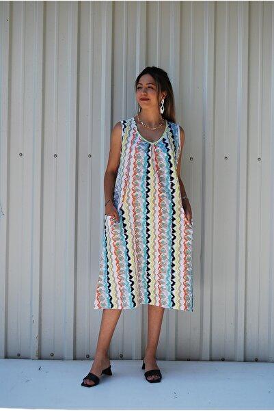 MGS LİFE Kadın, Cep Detaylı, Büyük Beden Elbise