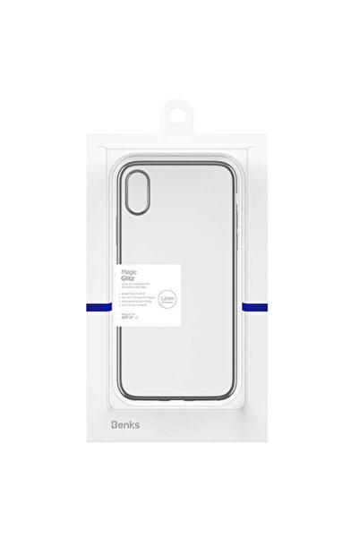 Apple Iphone X - Xs Uyumlu Kılıf Benks Magic Glitz Transparent Protective Soft Thin Case