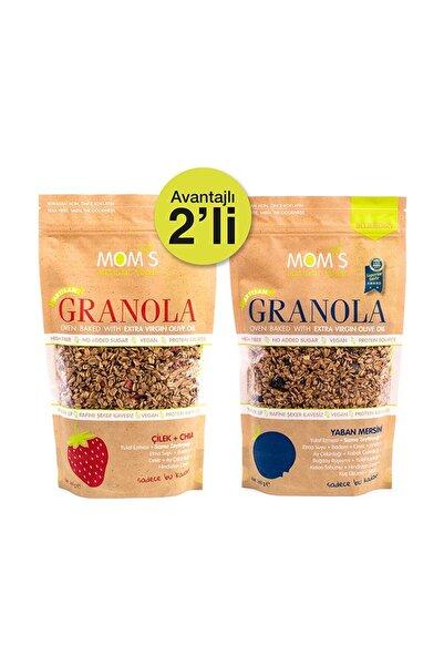 Mom's Natural Foods Kontrol - 2'li Granola - Çilek Chıa 360 Gr - Yabanmersini 360 Gr