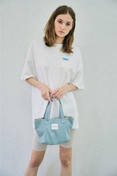 Shule Bags Kadın Organik Kanvas Kumaş El Çantası Selina Mavi