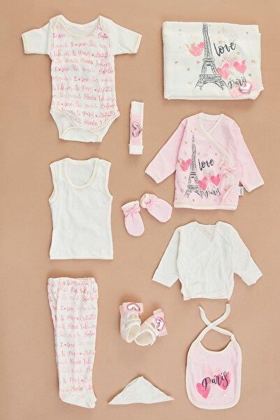 Fulla Moda Kız Bebek Pembe Baskılı 11'Li Takım
