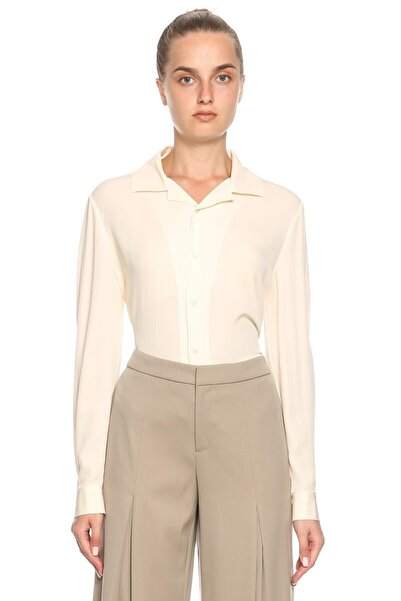 Ralph Lauren Collection Kadın Krem Rengi Ipek Gömlek
