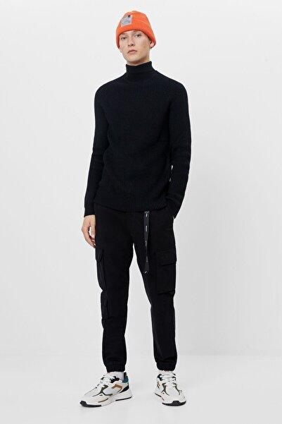 Bershka Erkek Siyah Kargo Pantolon